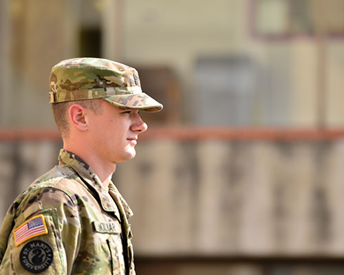 Profile of a male ROTC cadet